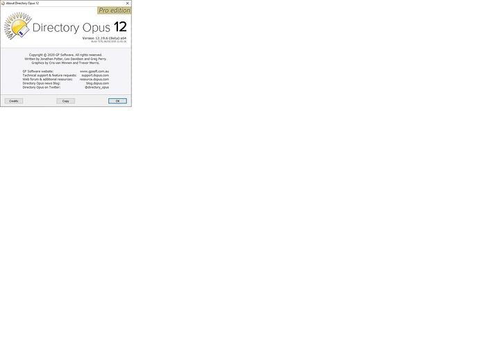 Dopus Version Screen