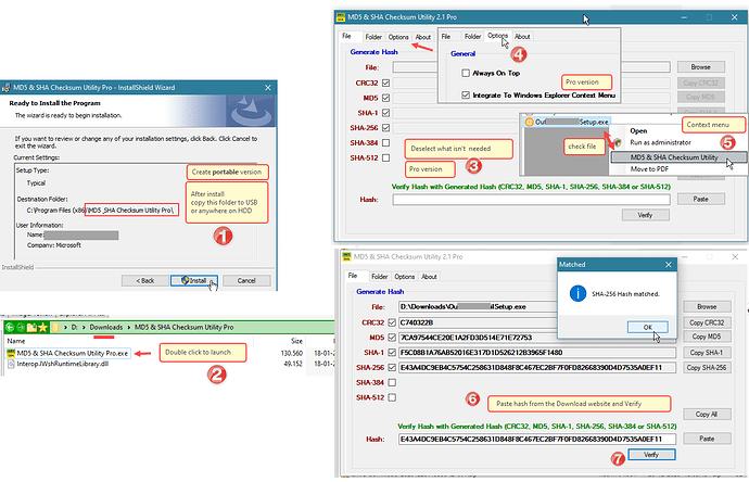 MD5-SHA-Checksum Utility Pro-portable and context menu