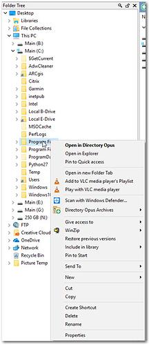 TreeSize context menu not on subfolders - Help & Support - Directory