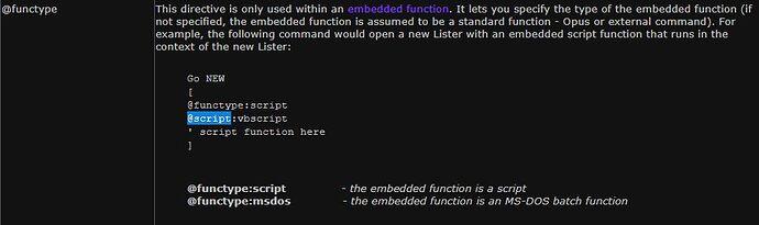Dopus Docs Command Modifier - functype