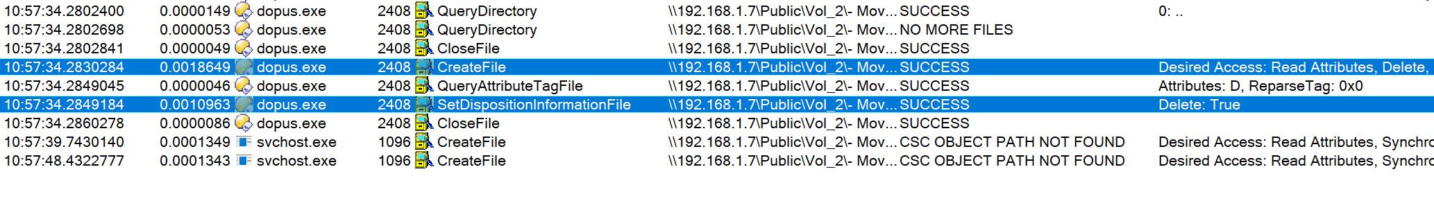 Shift-Delete not deleting folder on QNAP NAS - Help & Support