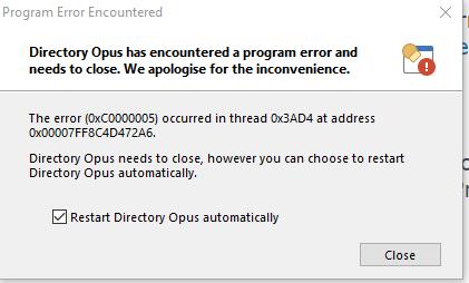 Directory Opus Error