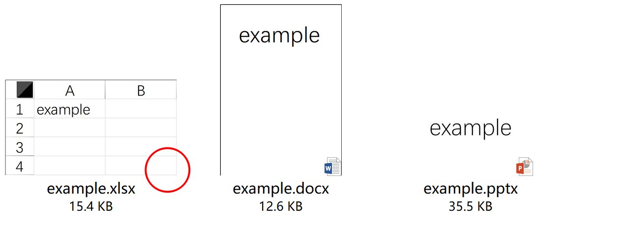 Word And Excel Document Thumbnails
