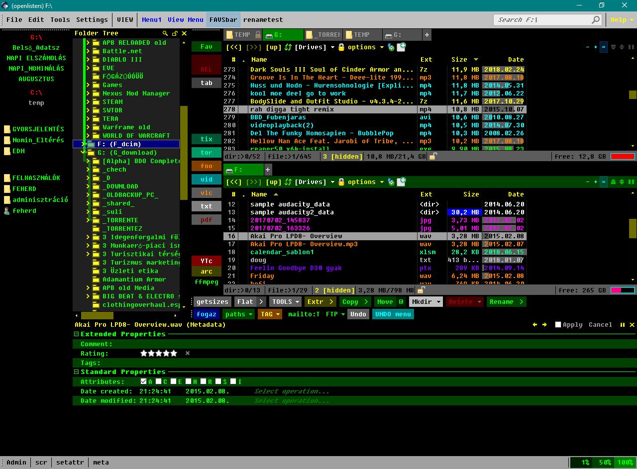 Making UI look like XYplorer - Help & Support - Directory