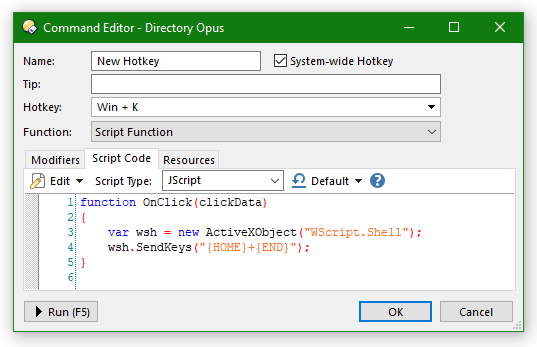 Use Opus to hotkey typing out a key sequence - Help & Support