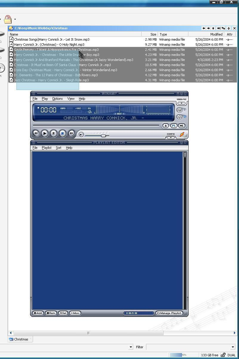 Drag files (mp3) to launched application (winamp) - Help