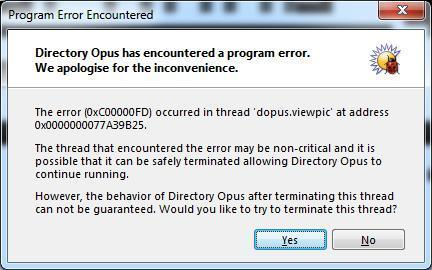 Nfo viewer plugin causes dopus to crash - Help & Support