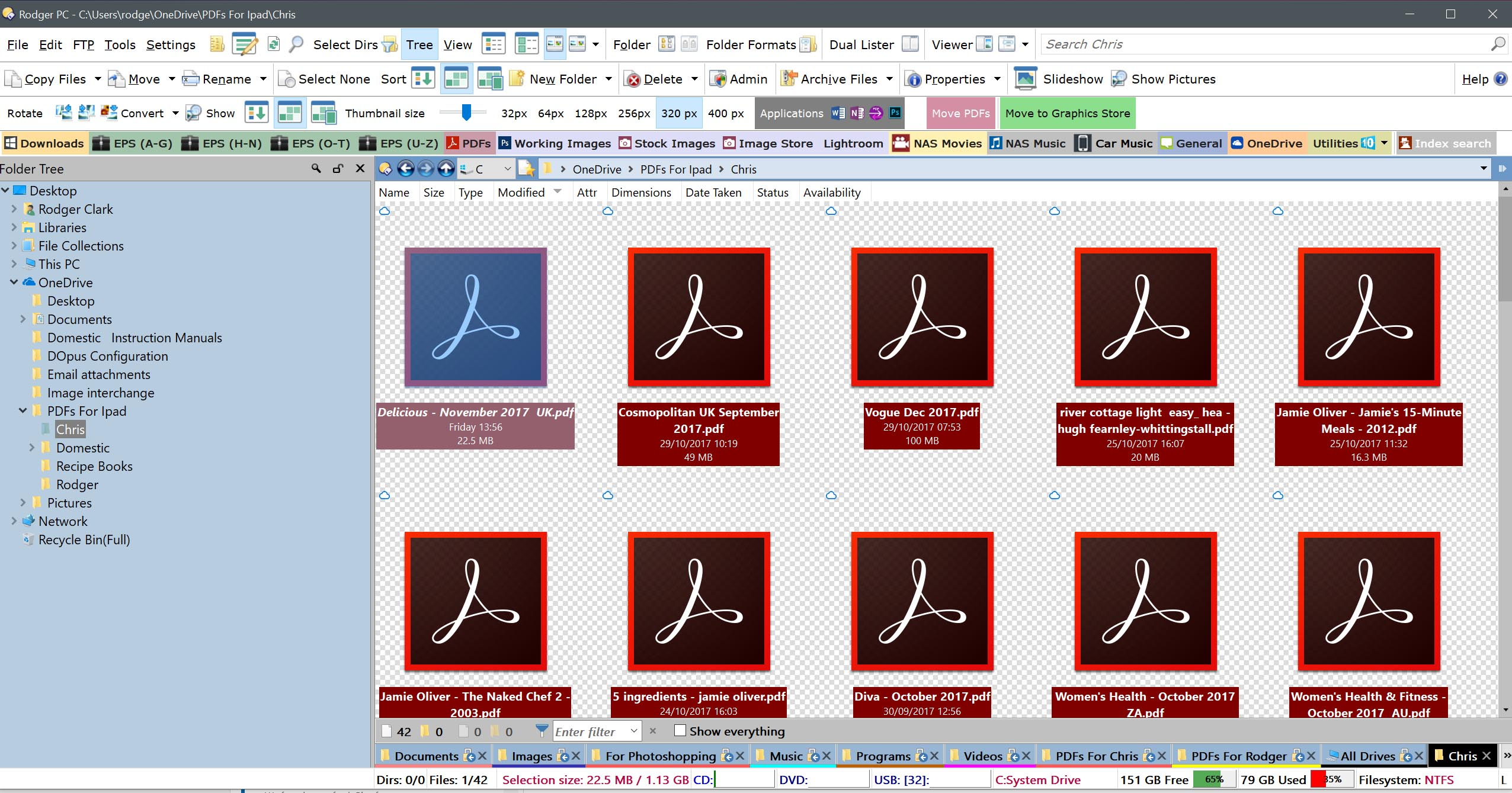 OneDrive PDF Thumbnails - Help & Support - Directory Opus Resource